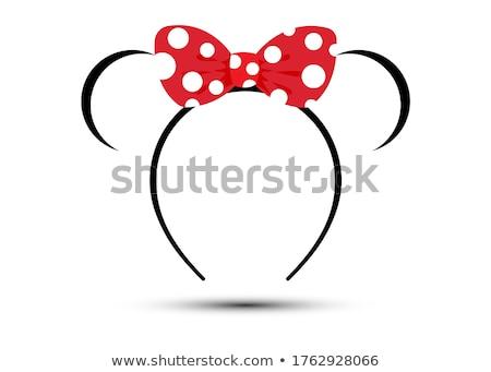 Speelgoed zwarte Rood geïsoleerd witte achtergronden speelgoed Stockfoto © karenr