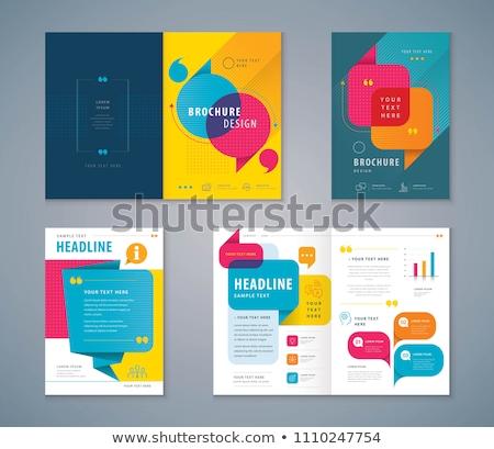 colorido · anunciante · vector · papel · web - foto stock © burakowski