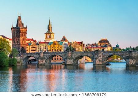 ponte · Praga · República · Checa · edifício · cidade · rio - foto stock © phbcz
