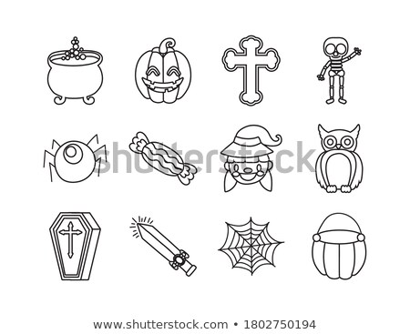 набор 12 Хэллоуин знак векторы Сток-фото © fiftyfootelvis