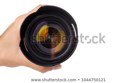 profesyonel · fotoğraf · objektif · kapak · yalıtılmış · beyaz - stok fotoğraf © tarczas