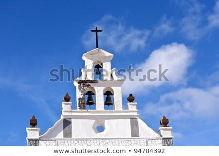 Bella cattolico chiesa cielo nubi panorama Foto d'archivio © meinzahn