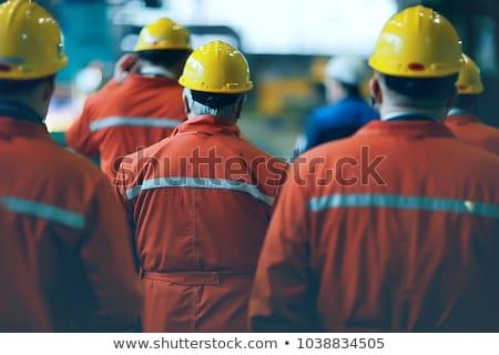 pracownik · olej · izometryczny · własny · świat · czerwony · pracownika - zdjęcia stock © araga