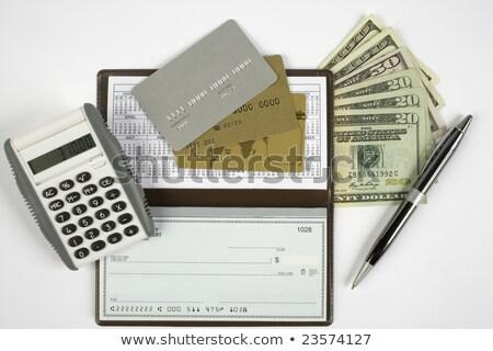 пер проверить кредитных карт баланса Focus наконечник Сток-фото © ambientideas