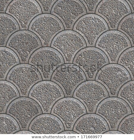 Stock photo: Concrete Pavement as Squama. Seamless Tileable Texture.