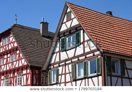 half timbered house under clear blue sky  Stock photo © meinzahn