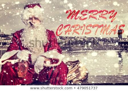 грубый веселый Рождества Cartoon текста рождество Сток-фото © blamb