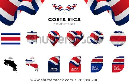Stockfoto: Costa · Rica · vlag · puzzel · geïsoleerd · witte · business