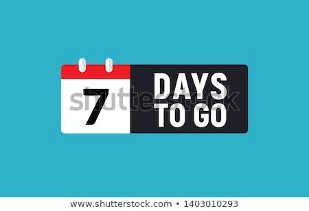 Countdown zeven oude film scherm hoog Stockfoto © idesign