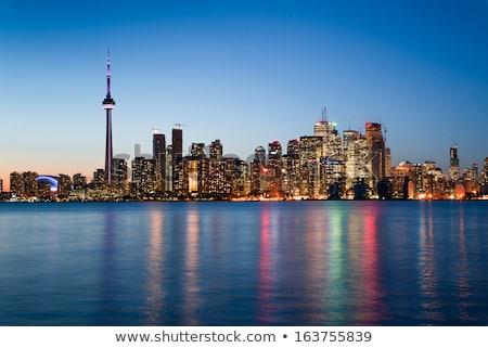 Toronto linha do horizonte silhueta edifícios ruas Foto stock © blamb