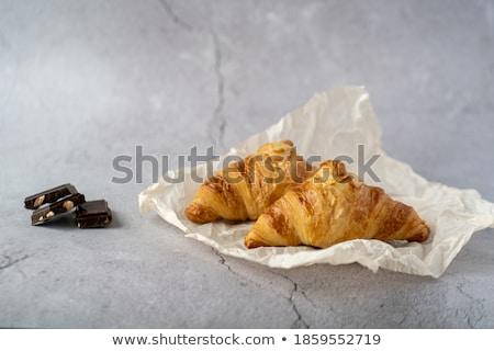 three croissant on grey  Stock photo © mizar_21984