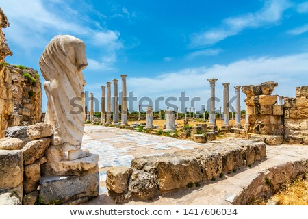 colonnade in the ancient ruins of salamis city famagusta cyprus stock photo © kirill_m