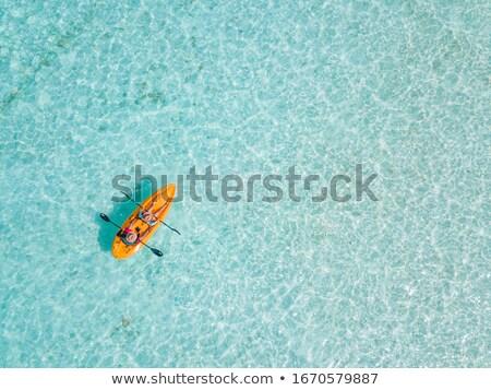 カヤック 桟橋 水 自然 旅行 ボート ストックフォト © bmonteny