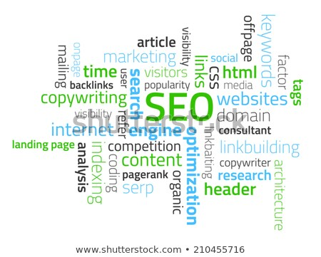 Tag cloud composed from words related to SEO Stock photo © liliwhite