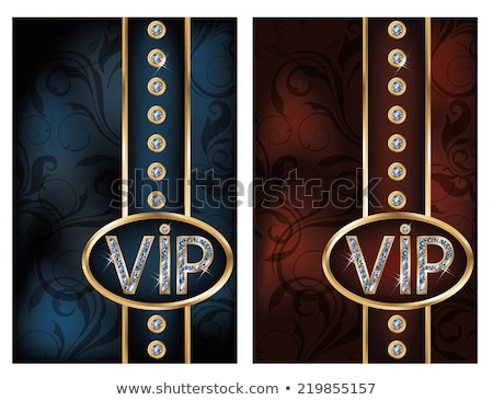 two diamond vip card vector illustration stock photo © carodi