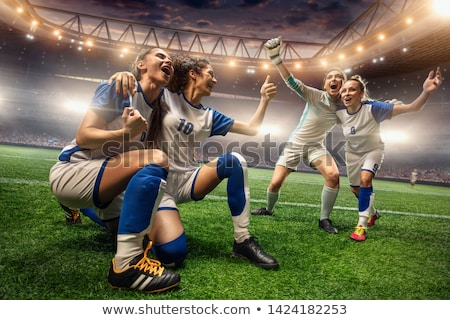 voetbal · vrouw · geïsoleerd · witte · voetbal · schoonheid - stockfoto © gemenacom