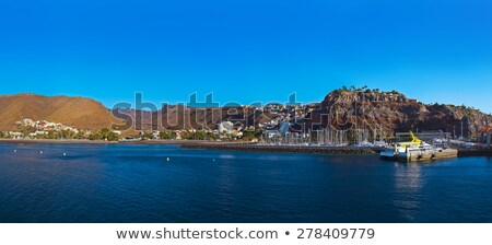 liman · görmek · dağ · ada · İspanya - stok fotoğraf © tuulijumala