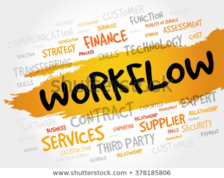 word cloud - workflow Stock photo © master_art