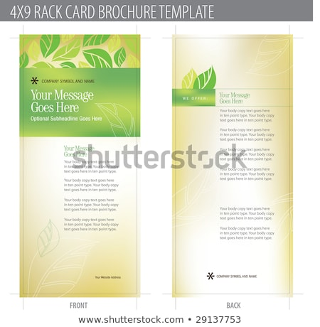 X Rack Card Brochure Template Vector Illustration Aleksandar - 4x9 rack card template