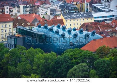 Graz sztuki muzeum budynku miasta Cityscape Zdjęcia stock © LianeM