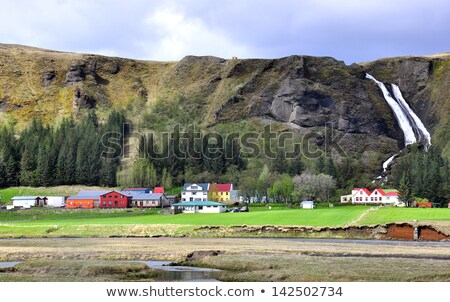traditionnel · ferme · Islande · bâtiment · nature · été - photo stock © 1Tomm