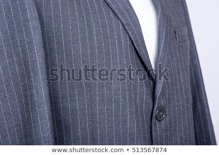 işadamı · gri · takım · elbise · yalıtılmış · mavi - stok fotoğraf © RTimages