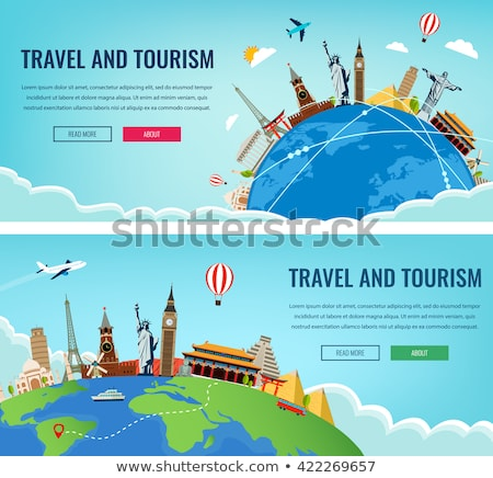 World Travel header Stock photo © cherezoff