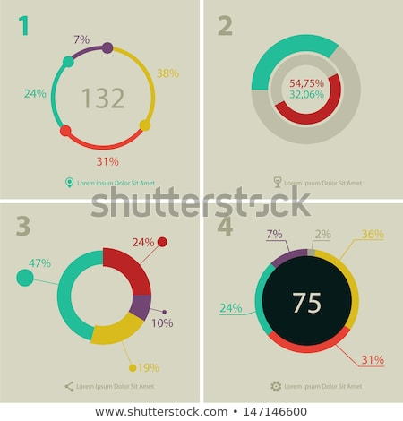 modern ui flat style infographic layout for data display stock photo © davidarts