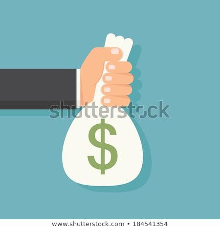 ベクトル · お金 · 袋 · アイコン · シンボル · 経済の - ストックフォト © thanawong