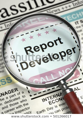 Stock photo: Report Developer Vacancy in Newspaper.