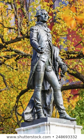 General Lafayette Statue Lafayette Park Autumn Washington DC Stock photo © billperry