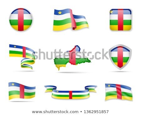 Map on flag button of Central African Republic Stock photo © Istanbul2009