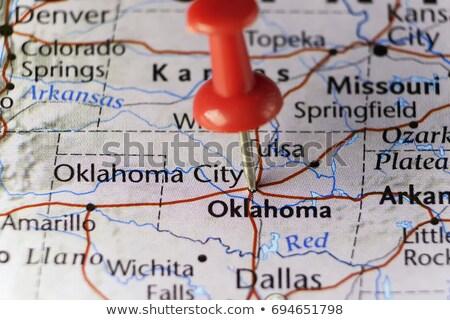 Оклахома карта Pin американский маркер изолированный Сток-фото © speedfighter
