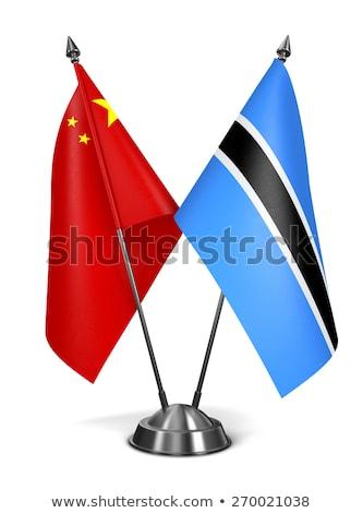 China Botswana miniatura banderas aislado blanco Foto stock © tashatuvango