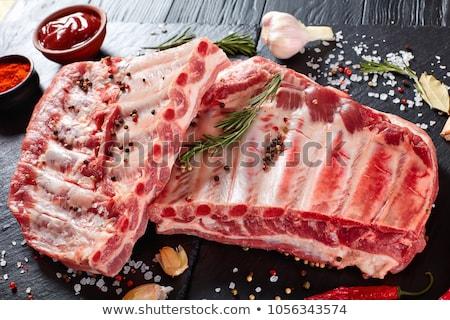 raw spare ribs Stock photo © ozaiachin