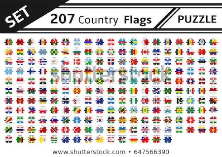 Foto stock: México · Itália · bandeiras · quebra-cabeça · vetor · imagem