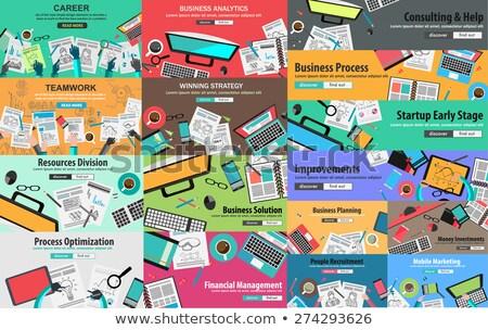 mega pack of design concepts for business strategy stock photo © davidarts