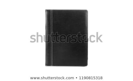 Klassiek leder notebook pen voorraad foto Stockfoto © punsayaporn