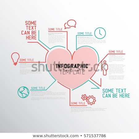 vector heart infographic report template stock photo © orson