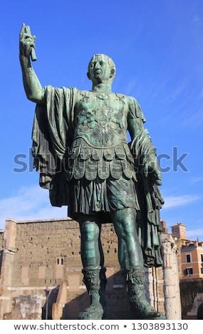 sezar · heykel · towers · İtalya · kapı - stok fotoğraf © vladacanon