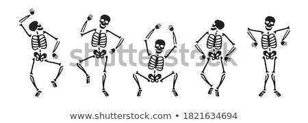 skeleton silhouette in standing pose Stock photo © Istanbul2009
