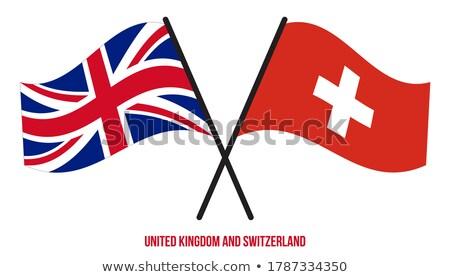 Egyesült Királyság Svájc zászlók puzzle izolált fehér Stock fotó © Istanbul2009