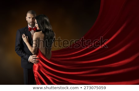 Two young girls in evening dresses Stock photo © dashapetrenko