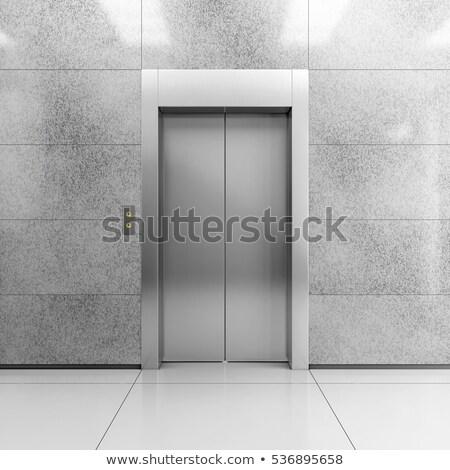 Front widoku nowoczesne windy zamknięte drzwi Zdjęcia stock © inxti