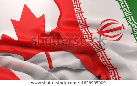 emberek · zászló · Irán · izolált · fehér · tömeg - stock fotó © istanbul2009