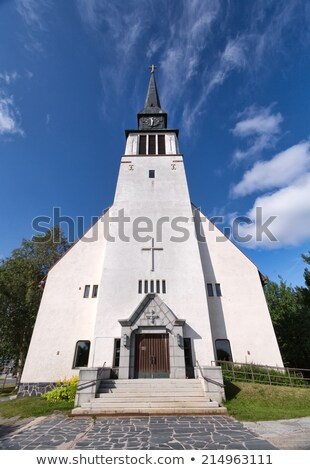 Provincial Catholic church in the north of Scandinavia. Stock photo © RuslanOmega