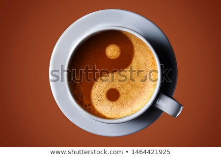 Coffee Cup with Yin-Yang Symbol Stock photo © netkov1