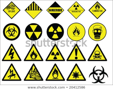 promieniowanie · ostrzeżenie · symbol · człowiek · strony · technologii - zdjęcia stock © bezikus