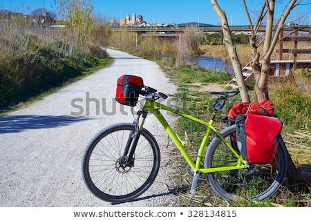 cycling tourism bike in Spain with paniers Stock photo © lunamarina