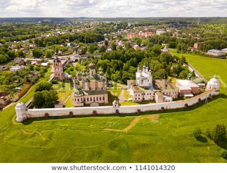 assumption cathedral in goritsky monastery pereslavl zalessky stock photo © reticent
